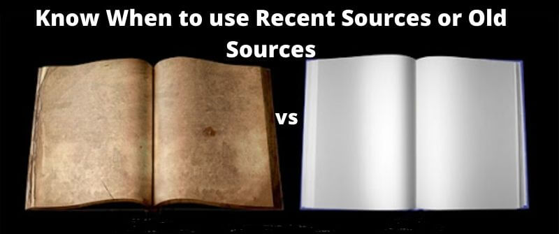 How Old essay Sources should be