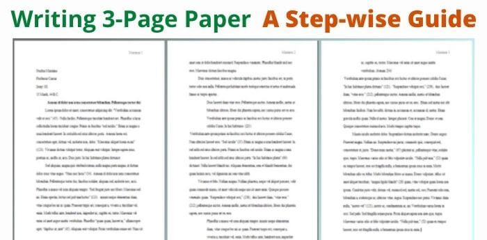 How long to Write a 3-Page Essay
